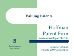 valuingpatents